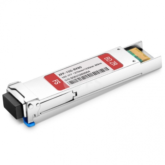 10GBASE-BX BiDi XFP 1270nm-TX/1330nm-RX 80km DOM LC SMF Transceiver Module for FS Switches