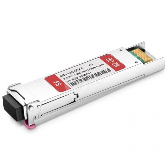 Brocade 10G-XFP-BXD-60K Compatible 10GBASE-BX BiDi XFP 1330nm-TX/1270nm-RX 60km DOM LC SMF Transceiver Module