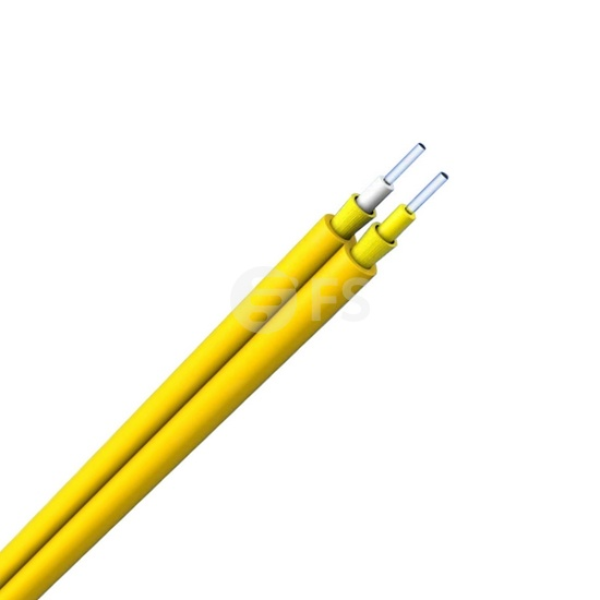 Zipcord Singlemode 9/125 OS2, Riser, Indoor Tight-Buffered Interconnect Fiber Optical Cable