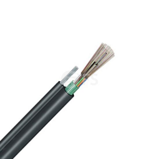 96 fibras multimodo 62.5/125 OM1, blindaje simple, tubo holgado, figura 8, cable aéreo autoportante impermeable para exteriores GYTC8S