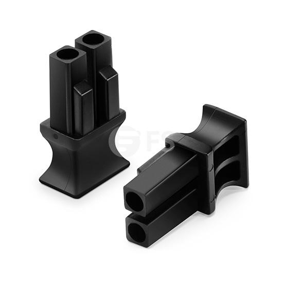 Tipo B QSFP+ QSFP28 Tapas antipolvo, adecuado para dúplex LC QSFP+ QSFP28 Módulo óptico, 100pcs/paquete