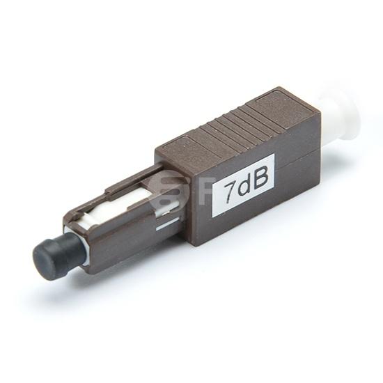 Atenuador de fibra óptica fijado MU/UPC monomodo, macho-hembra, 1~25dB opcional