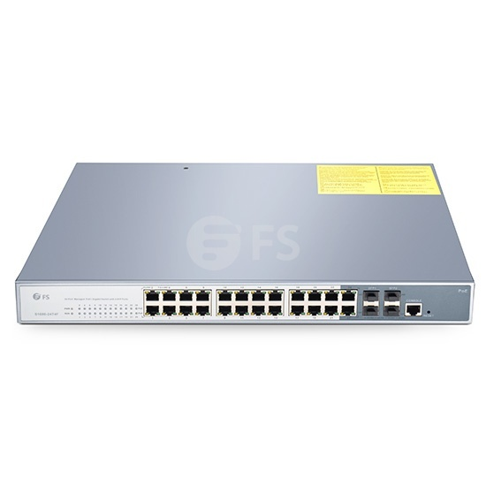 24-Port Gigabit PoE+ Managed Switch mit 4 SFP, 600W, 4 Jahre Garantie