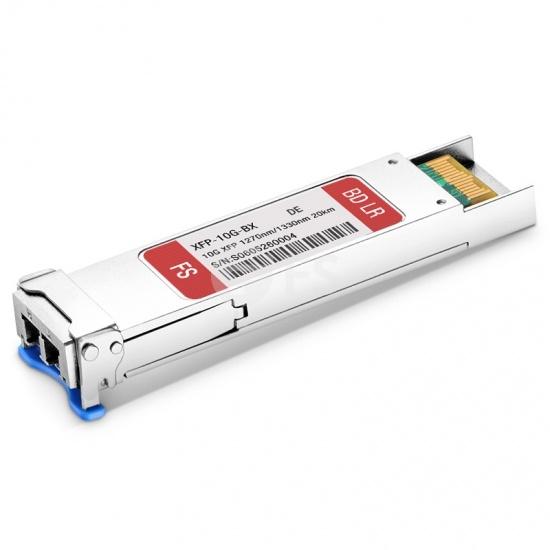 Dell (DE) GP-XFP-10GBX-U-20 Compatible 10GBASE-BX BiDi XFP 1270nm-TX/1330nm-RX 20km DOM Transceiver Module