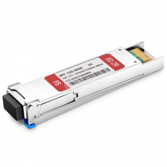 Dell (DE) GP-XFP-10GBX-U-60 Compatible 10GBASE-BX BiDi XFP 1270nm-TX/1330nm-RX 60km DOM Transceiver Module