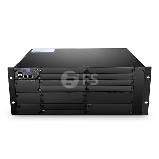 4U Chasis Gestionado 4U Descargado, Soporte para hasta 16 módulos EDFA/OEO/OLP con Accesorios