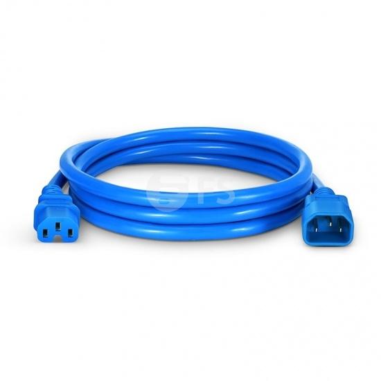 6ft (1.8m) IEC320 C14 to IEC320 C15 14AWG 250V/15A Power Cord, Blue