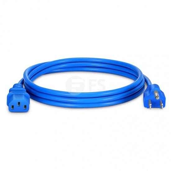 6ft (1.8m) NEMA 5-15P to IEC320 C13 18AWG 125V/10A Power Cord, Blue