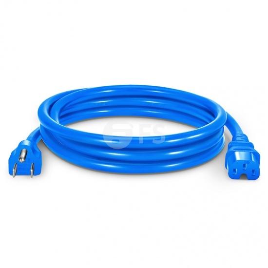 6ft (1.8m) 14AWG 125V/15A Cable de alimentación (NEMA 5-15P a IEC320 C15), Azul