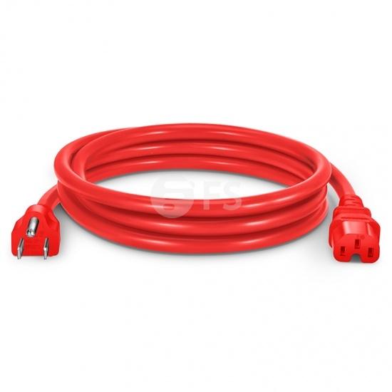 6ft (1.8m) Кабель Питания (NEMA 5-15P - IEC60320 C15) 14AWG 125В/15А, Красный