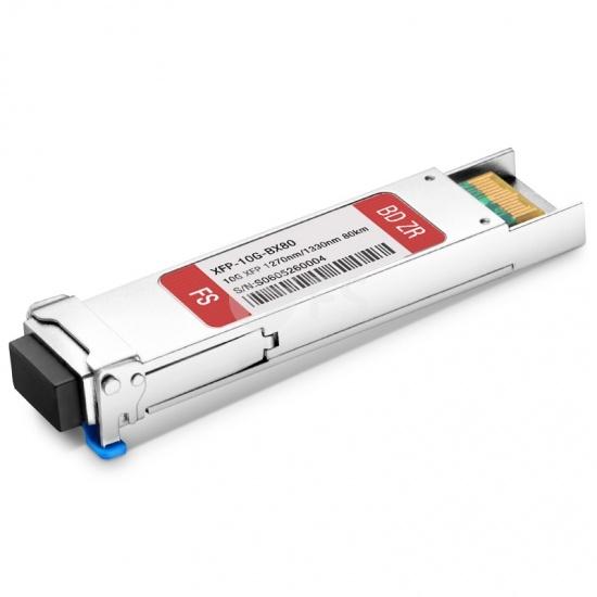 Cisco XFP-10G-BX80U-I Compatible 10GBASE-BX BiDi XFP 1270nm-TX/1330nm-RX 80km DOM LC SMF Transceiver Module