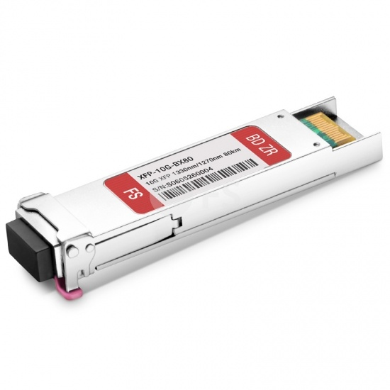 Cisco XFP-10G-BX80D-I Compatible 10GBASE-BX BiDi XFP 1330nm-TX/1270nm-RX 80km DOM Transceiver Module
