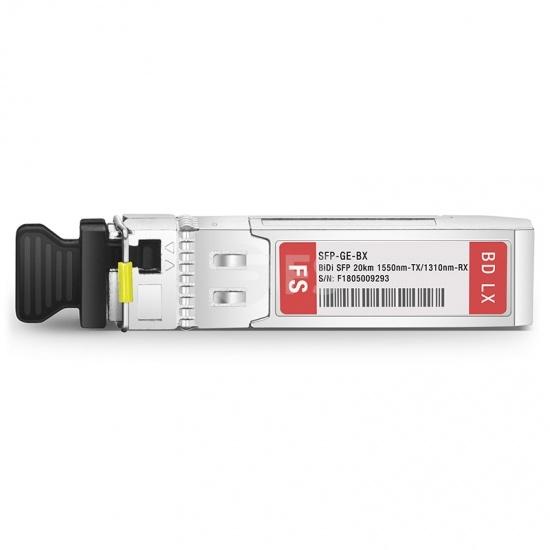 思科(Cisco)兼容GLC-BX-20D BiDi SFP千兆单纤双向光模块 1550nm-TX/1310nm-RX 20km
