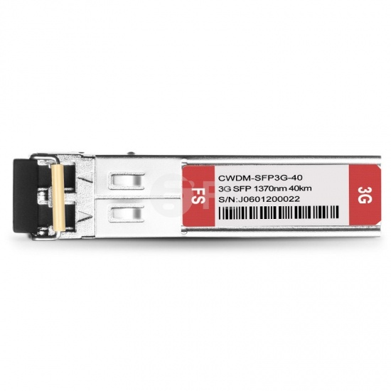 3G-SD/HD/3G-SDI MSA 数字视频 CWDM SFP光模块 1370nm 40km  收发一体 病理式