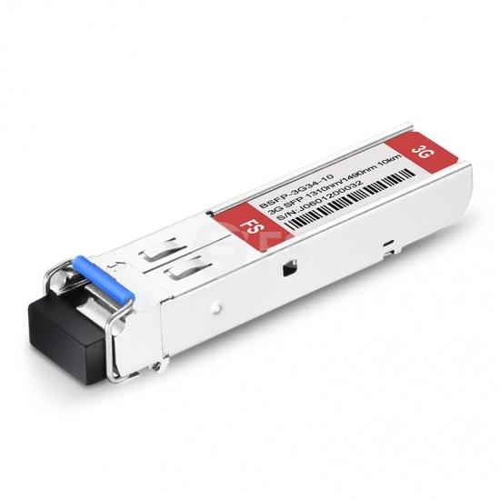 3Gb/s MSA BiDi SFP 1310nm-TX/1490nm-RX 10km DOM LC SMF Video Pathological Patterns Transceiver Module for SD/HD/3G-SDI