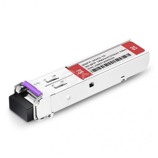 3Gb/s MSA ビデオパソロジカル対応BiDi SFPモジュール(SD/HD/3G-SDI用、1490nm-TX/1310nnRX 10km、DOM LC SMF)