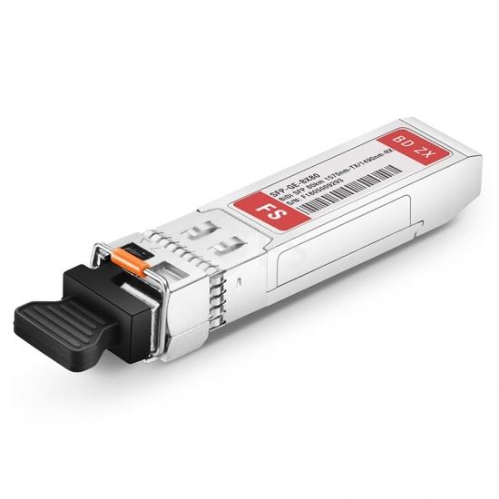 Cisco GLC-BX80-D Compatible 1000BASE-BX BiDi SFP 1570nm-TX/1490nm-RX 80km DOM LC SMF Transceiver Module