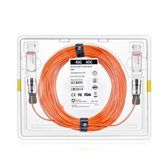 25m 博科(Brocade)兼容40G-QSFP-QSFP-AOC-2501 QSFP+ 转 QSFP+ 有源光缆