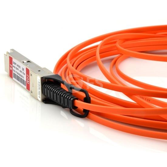 20m 戴尔(Dell/Force10)   CBL-QSFP-40GE-20M QSFP+ 转 QSFP+ 有源光缆
