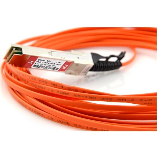 30m 戴尔(Dell/Force10)   CBL-QSFP-40GE-30M QSFP+ 转 QSFP+ 有源光缆