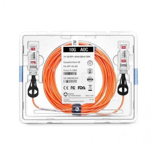 25m 极进(Extreme)兼容10GB-F25-SFPP SFP+ 转 SFP+ 有源光缆