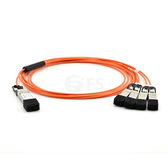5m 极进(Extreme)兼容10GB-4-F05-QSFP QSFP+ 转 4SFP+ 有源分支光缆