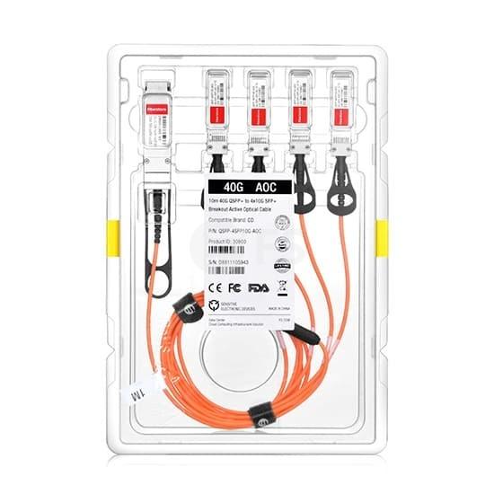 3m 极进(Extreme)兼容10GB-4-F03-QSFP QSFP+ 转 4SFP+ 有源分支光缆