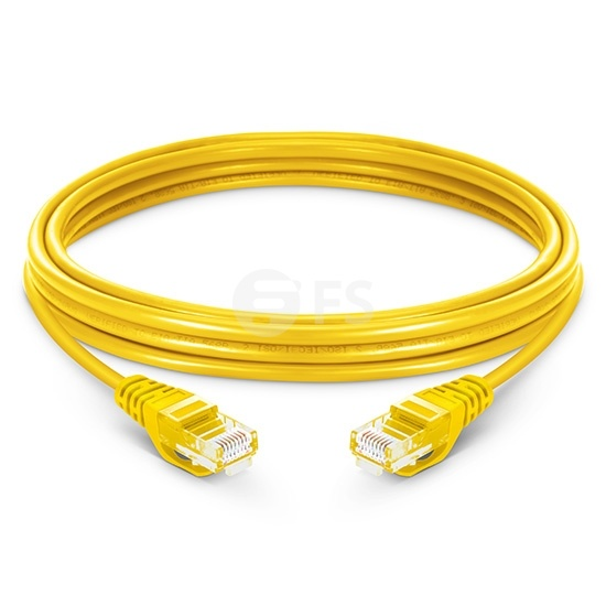1.5m Cat5e Ethernet Patch Cable - Snagless, Unshielded (UTP) PVC, Yellow