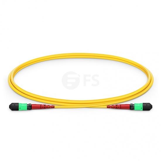 Cable troncal de fibra óptica OS2 9/125 monomodo MTP® - MTP® 24 fibras tipo A, Élite, LSZH 1m - amarillo