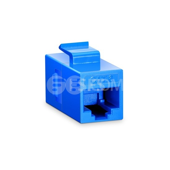 Cat6 Keystone RJ45 Coupler, Unshielded, Female to Female Insert Inline Coupler - Blue