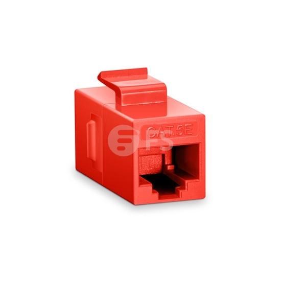 Cat5e 8P8C Unshielded RJ45 Coupler Keystone Insert Module - Red