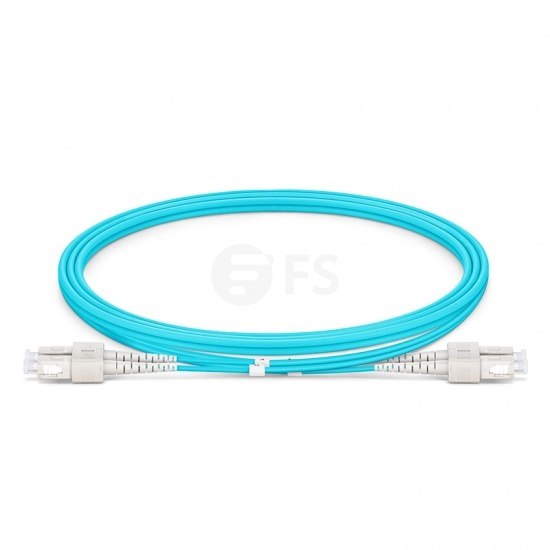 1m SC/UPC-SC/UPC万兆双工多模OM3光纤跳线 - 2.0mm PVC(OFNR)