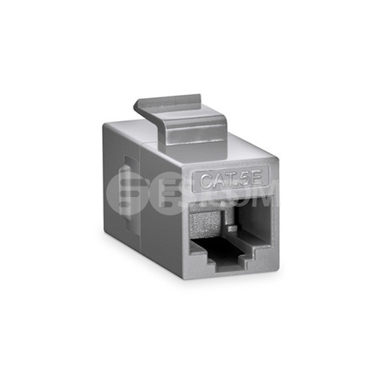 Cat5e Keystone RJ45 Coupler, Unshielded, Female to Female Insert Inline Coupler - Gray
