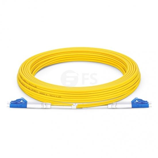 5m (16ft) LC UPC to LC UPC Duplex OS2 Single Mode OFNP 2.0mm Fiber Optic Patch Cable