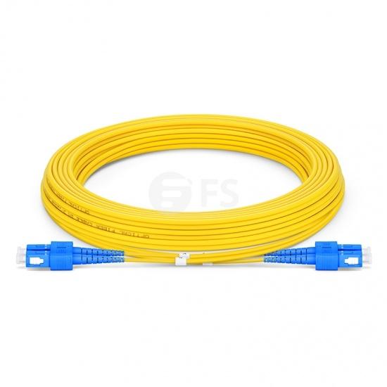 5m (16ft) SC UPC to SC UPC Duplex OS2 Single Mode LSZH 2.0mm Fiber Optic Patch Cable