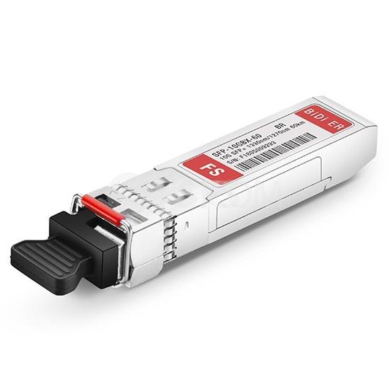 Brocade 10G-SFPP-BXD-60K Совместимый 10GBASE-BX60-D BiDi SFP+ Модуль 1330nm-TX/1270nm-RX 60km DOM