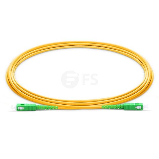 5m (16ft) SC APC to SC APC Simplex OS2 Single Mode LSZH 2.0mm Fiber Optic Patch Cable