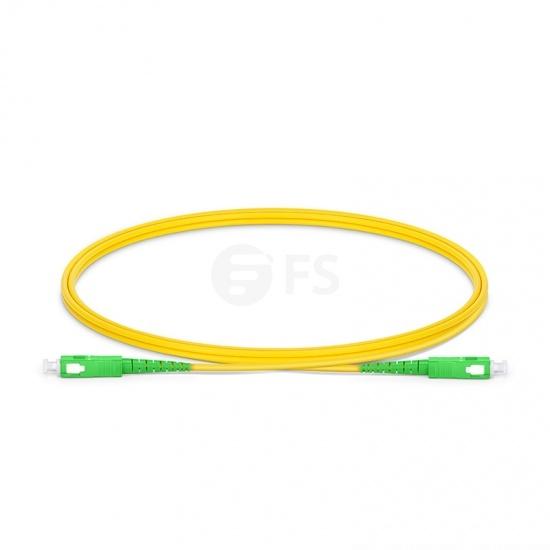 SC-SC APC Simplex Single Mode Fibre Patch Lead 2.0mm LSZH 1m