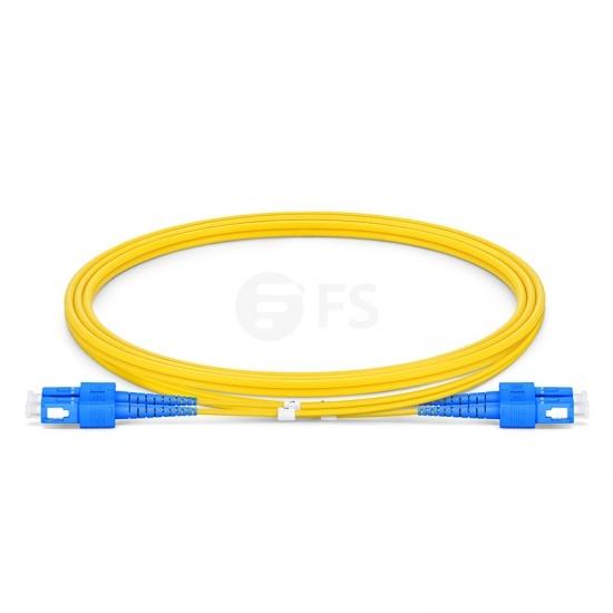 1m (3ft) SC UPC - SC UPC Duplex OS2 Single Mode OFNP 2.0mm Fiber Optic Patch Cable