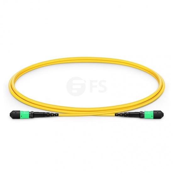12 Fibres MTP to MTP Female LSZH OS2 Single Mode Elite Fibre Trunk Cable, Type B, 1m