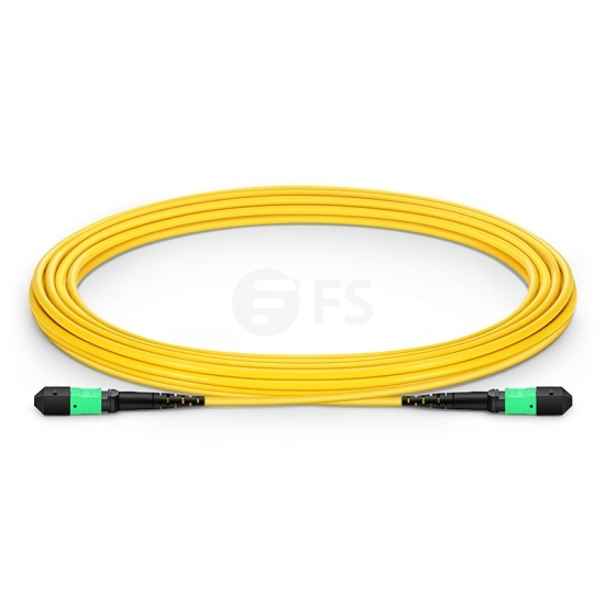 5m (16ft) MTP Female 12 Fibers Type B LSZH OS2 9/125 Single Mode Elite Trunk Cable, Yellow
