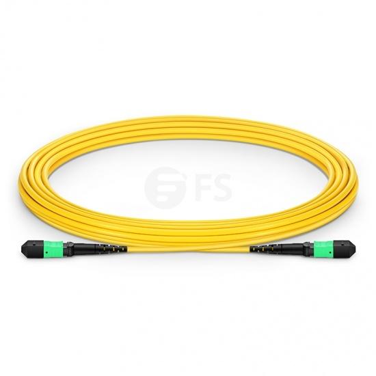 MTP® Trunkkabel, 5m (16ft) MTP® Female 12 Fasern, Polarität B, LSZH, OS2 9/125 Singlemode, Elite, Gelb