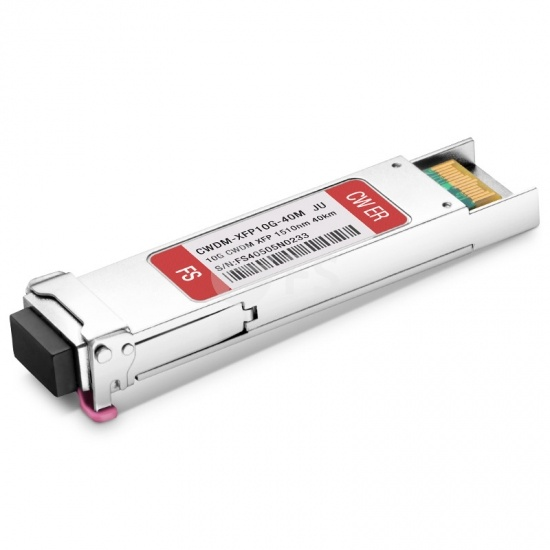Juniper Networks EX-XFP-10GE-LR40-1510 Compatible 10G CWDM XFP 1510nm 40km DOM Transceiver Module