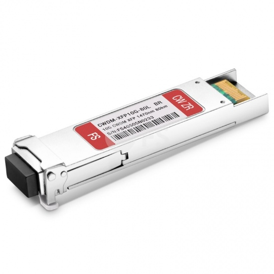 Módulo transceptor compatible con Brocade CWDM-XFP-1470-80, 10G CWDM XFP 1470nm 80km DOM LC SMF