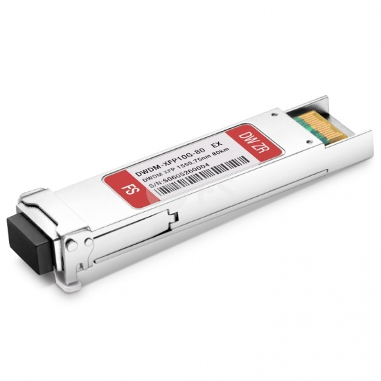 Módulo transceptor compatible con Extreme Networks C27 10227, 10G DWDM XFP 100GHz 1555.75nm 80km DOM LC SMF