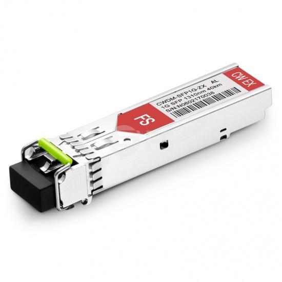 Módulo Transceptor SFP Mini-GBIC LC Gigabit 1000BASE-CWDM - Compatible Con Alcatel-Lucent SFP-GIG-31CWD40 - 40km - 1310nm - DOM
