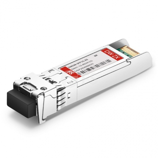 Brocade C41 1G-SFP-ZRD-1544.53 Compatible 1000BASE-DWDM SFP 100GHz 1544.53nm 80km DOM Transceiver Module
