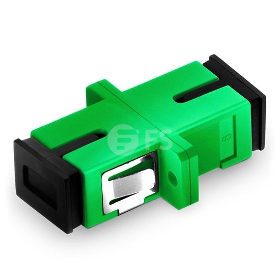 SC/APC to SC/APC Simplex Single Mode Fibre Optic Adapter/Coupler with Flange