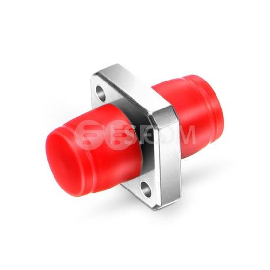 Оптический Переходный Адаптер FC/UPC - FC/UPC Simplex SM/MM, Квадратный Твердый Тип, Металлический Фланец