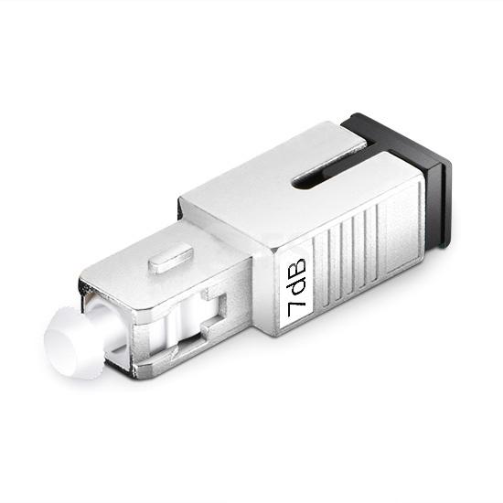 SC/UPC Singlemode Fixed Fiber Optic Attenuator, Male-Female, 7dB
